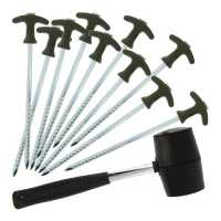 nGT Bivvy Pegs Set with Mallet